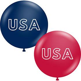 USA Premium Outdoor Balloons 17in (50)