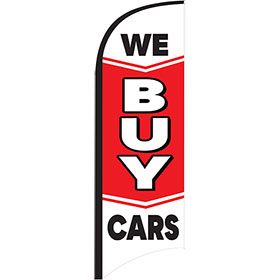 12ft Feather Flag Kit - We Buy Cars