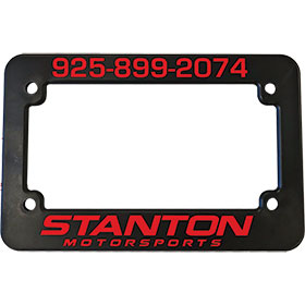 Personalized 2 Color Motorcycle Frames