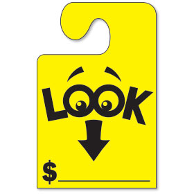 Look at the Price Mirror Tags with Hook - Fluorescent Yellow