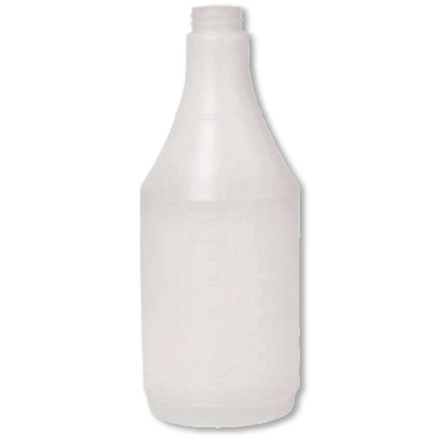 24 oz. Plastic Round Bottle (12)