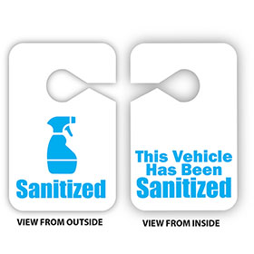 Sanitized Vehicle Hang Tags
