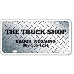 "Vehicle Message Plates (6"" x 12"") Template #3"