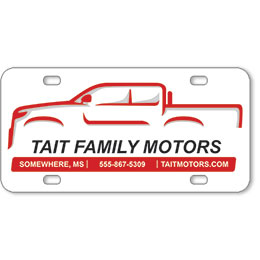 "Vehicle Message Plates (6"" x 12"") Template #5"