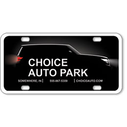 "Vehicle Message Plates (6"" x 12"") Template #7"