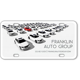"Vehicle Message Plates (6"" x 12"") Template #9"