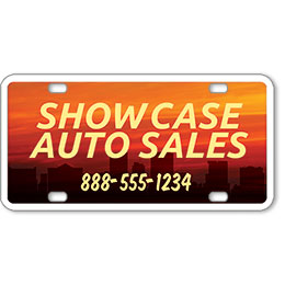 "Vehicle Message Plates (6"" x 12"") Template #10"