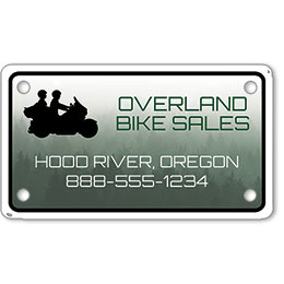 "Motorcycle Message Plates (4"" x 7"") Template #6"