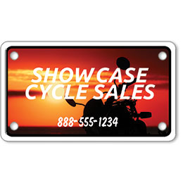 "Motorcycle Message Plates (4"" x 7"") Template #7"
