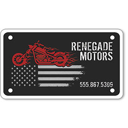 "Motorcycle Message Plates (4"" x 7"") Template #9"
