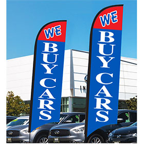 We Buy Cars Feather Flag Kit 12ft