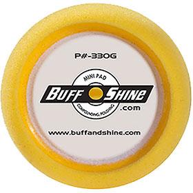 """3"""" Yellow Foam Grip Buffing Pad 2-Pak"""