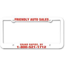 1 Inch Panel - One Color License Plate Frames - Style 5
