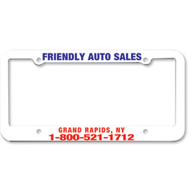 1 Inch Panel - Two Color License Plate Frames - Style 5