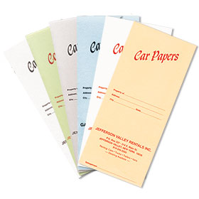 Custom Imprinted Slim Document Folders
