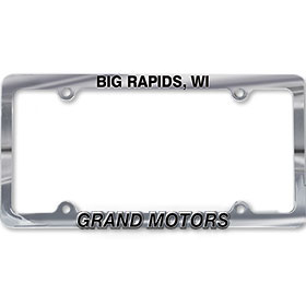 Custom Imprinted Chrome Plated Plastic Dealer License Plate Frames - Design 2