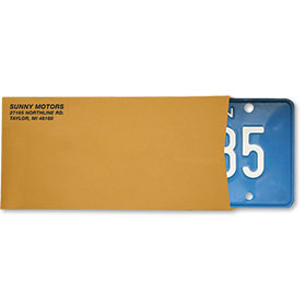 Imprinted License Plate Envelopes