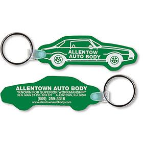 Two Sided Custom Soft Vinyl Key Tags - Car Shape