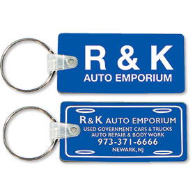 Two Sided Custom Soft Vinyl Key Tags - License Plate