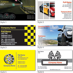 2 x 3.5 inch Glossy Dealer Business Cards (C2S)