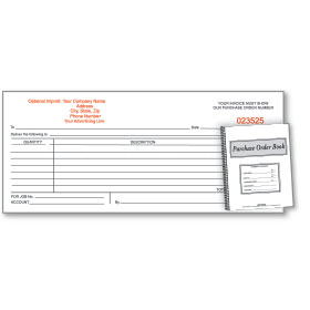 Custom Imprinted Purchase Order Book