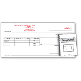 Custom Imprinted Receipt Book