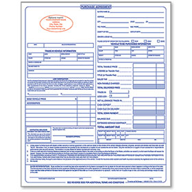 Custom Imprinted Purchase Agreement - 3 Part Form