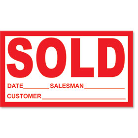 SOLD Peel & Stick Stickers - Red & White