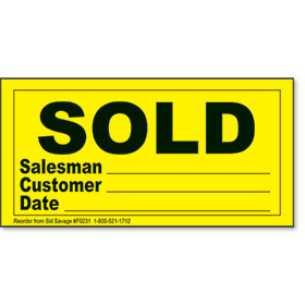 SOLD Peel & Stick Stickers - Yellow & Black