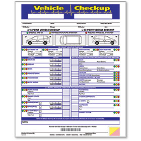 3 Part Vehicle Check-Up Form
