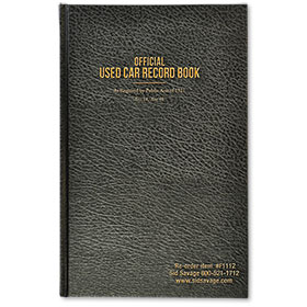 Black Used Car Record Book