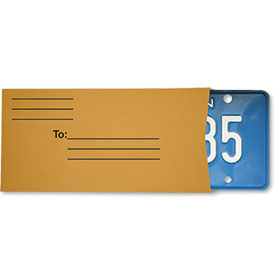 Preprinted License Plate Envelopes