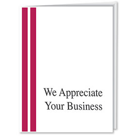We Appreciate Your Business Thank You Cards