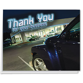 Car Lot Premium Thank You Card