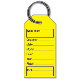 Auto Service Paper Key Tags