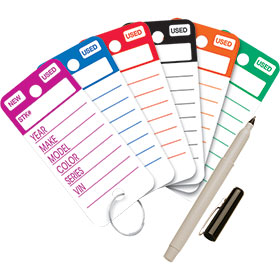Top Stripe Poly Rigid Key Tags