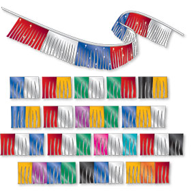 Multi-Colored Combo Metallic Fringe Pennant