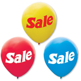 "17"" Outdoor Sale Balloons"