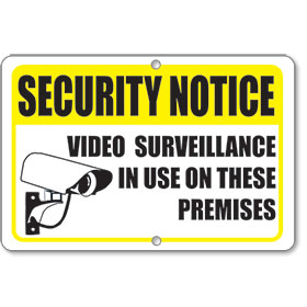 Yellow Security Sign
