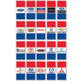 Double Sided Horizontal Authorized Dealer Display Master Flags
