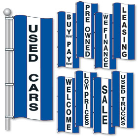 Blue White and Blue Bright Drape Flags