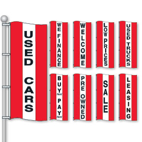 Bright Red, White & Red Drape Flags