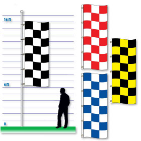 10 Foot Checker Drape Flags