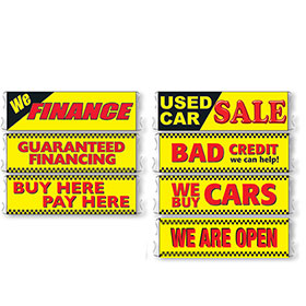 Stand-Out Car Lot Banners - 3' x 10'