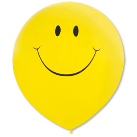 17 inch Premium Outdoor Smiley Balloons