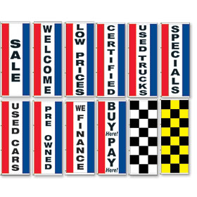 Red White and Blue Display Master Flags