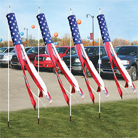 Flutter Patriotic Windsocks