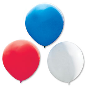 Red, White and Blue 17 inch Premium Outdoor Balloons
