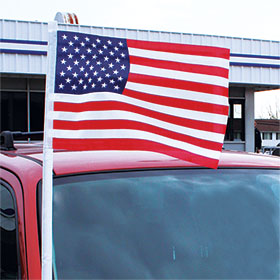 Cloth American Flag Antenna Pennant
