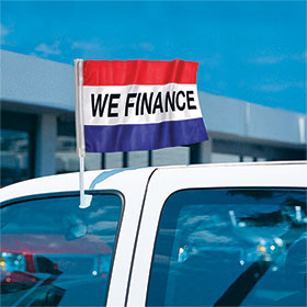 We Finance - Economy Clip-On Flag Kit